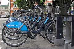 Cycle hire in London Royalty Free Stock Images