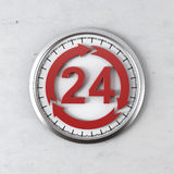 Cycle 24 hour service. Isolated on a white background. 3d render Stock Photos