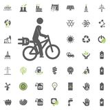 Cycle icon. Eco and Alternative Energy vector icon set. Energy source electricity power resource set vector. Cycle icon. Eco and Alternative Energy vector icon Royalty Free Stock Photography