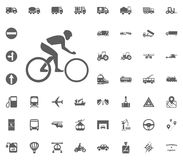 Cycle icon. Transport and Logistics set icons. Transportation set icons.  Royalty Free Stock Photos