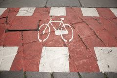 Cycle Lane Stock Photography
