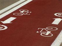 Cycle lane Stock Photo