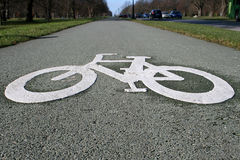 Cycle lane Stock Image
