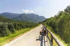 Cycle lane of the Adige valley Stock Photography
