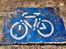 Cycle lane Royalty Free Stock Photography