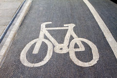 Cycle lane Stock Photos