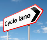 Cycle lane concept. Royalty Free Stock Image