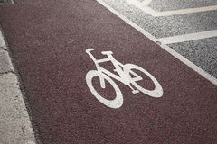 Cycle Lane in Dublin stock photography