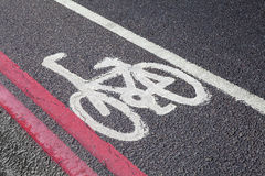Cycle Lane in London Stock Photo