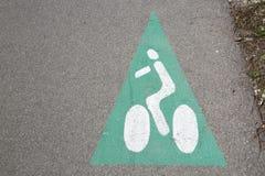 Cycle Lane Path Symbol stock photography