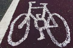 Cycle lane royalty free stock image