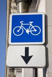 Cycle Lane Sign Royalty Free Stock Photos