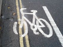 Cycle lane Stock Photo