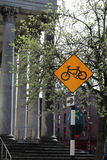 Cycle Lane Sign Stock Photo