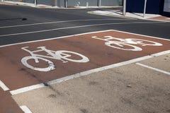 Cycle Lane Sign Stock Photos