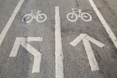 Cycle Lane in Stockholm, Sweden stock images