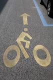 Cycle Lane Symbol Stock Image