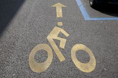 Cycle Lane Symbol Royalty Free Stock Image