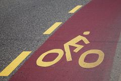Cycle Lane Symbol Stock Photography