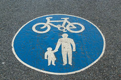 Cycle lane symbol Stock Image