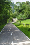 Cycle lane in Val Brembana Stock Image