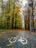 Cycle lane in the Zuiderpark Rotterdam.  Royalty Free Stock Photos