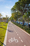 Cycle lanes at the Molos park in Limassol, Cyprus Stock Photos