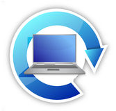 Cycle laptop illustration design. Over white background Royalty Free Stock Photos