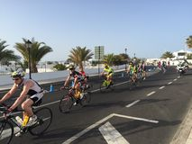 Cycle life. Ironman Lanzarote cycle Stock Photography