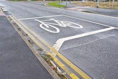 Cycle marking royalty free stock photo