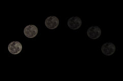 Cycle of Moon. The best Cycle of Moon Royalty Free Stock Image