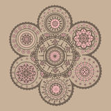 Cycle ornament. Symmetrical decorative complicated cycle ornament Royalty Free Stock Photography