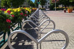 Cycle parking area Stock Photography