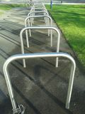 Cycle parking rack Stock Image