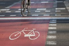 Cycle Path Royalty Free Stock Photography