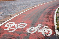 Cycle path Royalty Free Stock Photo