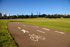 Cycle Path. Shared Pedestrian bicycle path through park Stock Photography