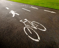 Cycle Path Royalty Free Stock Image
