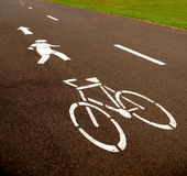 Cycle Path. Shared Pedestrian bicycle path through park Stock Image