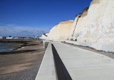 Cycle path by beach Stock Photos