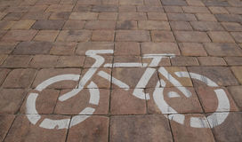 Cycle path, cycle track Royalty Free Stock Photos