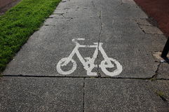 Cycle path Royalty Free Stock Photos