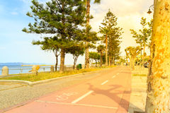 Cycle path in Kos Royalty Free Stock Images