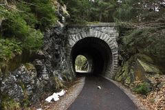 Cycle path and the old tunnel Stock Photography