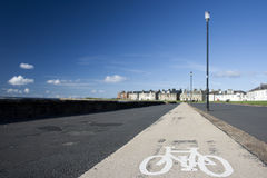 Cycle Path By the Sea Stock Photo