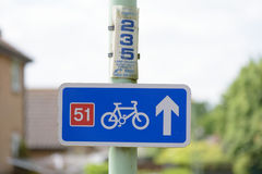 Cycle path sign Stock Photos