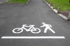 Cycle and pedestrian footpath or sidewalk in Auckland, New Zeala Stock Photography