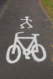 Cycle and pedestrian route Royalty Free Stock Images