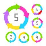 Cycle process diagram Stock Photos
