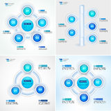 Cycle process diagrams collection. Infographic vector template for reports, plans,presentation,web. Cycle process diagrams collection. Infographic vector Royalty Free Stock Photo